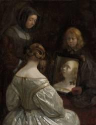 Femme à son miroir (Gérard Ter Borch) - Muzeo.com