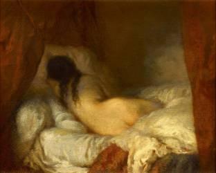 Femme nue couchée (Jean-François Millet) - Muzeo.com