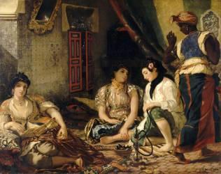 Femmes d'Alger dans leur appartement (Delacroix Eugène) - Muzeo.com