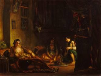 Femmes d'Alger dans leur intérieur (Delacroix Eugène) - Muzeo.com