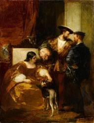 François Ier et la duchesse d'Etampes (Richard Parkes Bonington) - Muzeo.com
