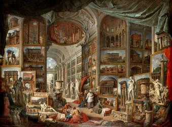 Galerie de vues de la Rome Antique (Giovanni Paolo Pannini) - Muzeo.com