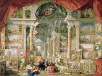 Galerie de vues de la Rome Moderne (Giovanni Paolo Pannini) - Muzeo.com
