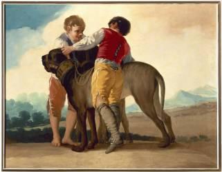 Garçons jouant avec un dogue (Francisco De Goya) - Muzeo.com
