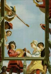 Groupe musical sur un balcon (Gerrit Van Honthorst) - Muzeo.com