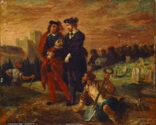 Hamlet et Horatio au cimetière (Eugène Delacroix) - Muzeo.com