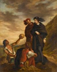 Hamlet et Horatio au cimetière (Delacroix Eugène) - Muzeo.com