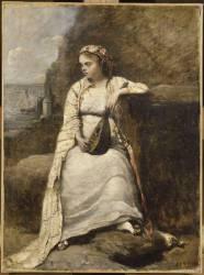 Haydée (jeune femme en costume grec) (Corot Jean-Baptiste Camille) - Muzeo.com