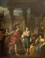 Hector détermine Pâris à prendre les armes (Vien Joseph Marie l'Aîné) - Muzeo.com