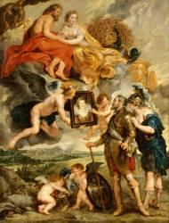 Henri IV reçoit le portrait de Marie de Médicis (Pierre Paul Rubens) - Muzeo.com