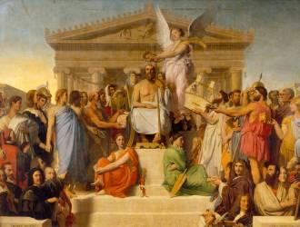 Homère déifié dit aussi l'apothéose d'Homère (Jean-Auguste-Dominique Ingres) - Muzeo.com