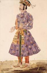 Homme en costume persan, vu de profil vers la gauche (Eugène Delacroix) - Muzeo.com