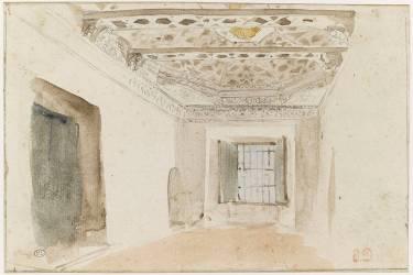Intérieur arabe, dit chambre de Delacroix, à Meknès (Eugène Delacroix) - Muzeo.com