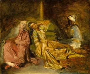 Intérieur de harem (Chasseriau Théodore) - Muzeo.com