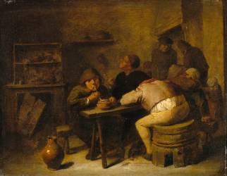 Intérieur de tabagie (Anonyme) - Muzeo.com