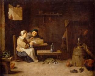 Intérieur d'estaminet (Teniers David le Jeune) - Muzeo.com