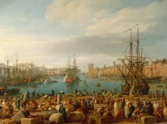 Intérieur du port de Marseille (Vernet Joseph) - Muzeo.com