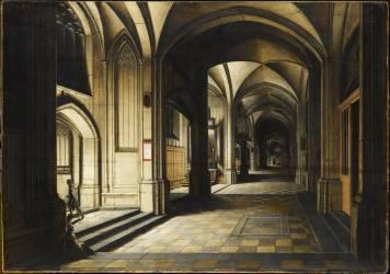 Intérieur d'église. Effet de nuit (Hendrick van Steenwyck le...) - Muzeo.com