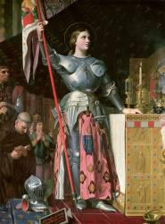 Jeanne d'Arc au sacre du roi Charles VII dans la cathédrale de Reims (Jean-Auguste-Dominique Ingres) - Muzeo.com