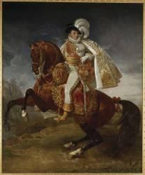 Jérôme Bonaparte, roi de Westphalie (1784-1860), portrait équestre (Antoine-Jean Gros) - Muzeo.com