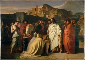 Jésus Christ et les petits enfants (Hippolyte Flandrin) - Muzeo.com