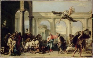 Jésus guérissant le paralytique de Bethesda (Tiepolo Gian Domenico) - Muzeo.com