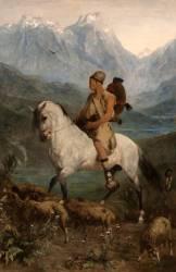 Jeune berger Kabyle à cheval (Fromentin Eugène) - Muzeo.com