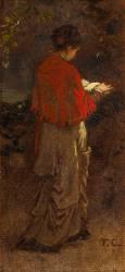 Jeune fille debout lisant (Thomas Couture) - Muzeo.com