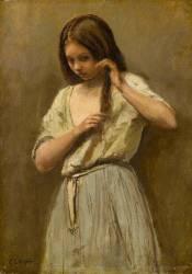 Jeune fille à sa toilette (Corot Jean-Baptiste Camille) - Muzeo.com