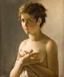 Jeune fille en buste (Guérin Pierre-Narcisse) - Muzeo.com