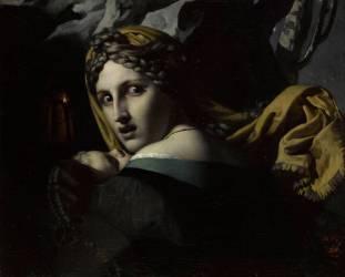Jeune mère fuyant, un enfant dans les bras (Anonyme) - Muzeo.com