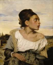 Jeune orpheline au cimetière (Delacroix Eugène) - Muzeo.com