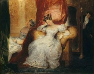 Jeunes femmes assises (Devéria Eugène) - Muzeo.com