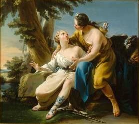 Jupiter sous les traits de Diane surprenant Calisto (Halle Noël) - Muzeo.com