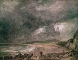 La Baie de Weymouth avec Orage approchant (John Constable) - Muzeo.com