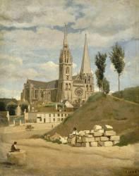 La Cathédrale de Chartres (Jean-Baptiste Camille Corot) - Muzeo.com