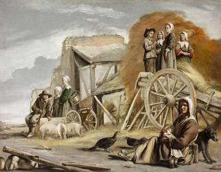 La charrette ou le retour de la fenaison. (Le Nain Louis) - Muzeo.com