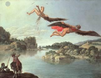 La Chute d'Icare (Carlo Saraceni) - Muzeo.com