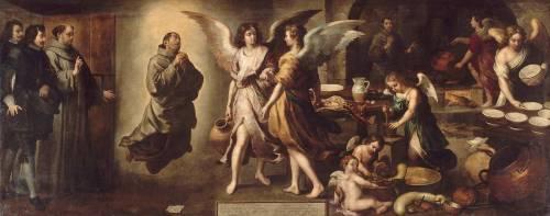 La Cuisine des Anges (Bartolome Esteban Murillo) - Muzeo.com