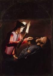 La Découverte du corps de saint Alexis (copie d'après un original perdu) (Anonyme) - Muzeo.com