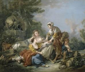 La diseuse de bonne aventure (François Boucher) - Muzeo.com