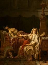 La douleur et les regrets d'Andromaque sur le corps d'Hector son mari (David Jacques Louis) - Muzeo.com