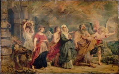 La Famille de Loth quittant Sodome (Rubens Pierre Paul) - Muzeo.com
