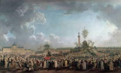 La Fête de l'Etre suprême au Champ-de-Mars (20 prairial, an II - 8 juin 1794). (Pierre-Antoine Demachy) - Muzeo.com
