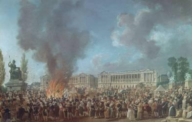 La Fête de l'Unité sur la place de la Concorde (23 thermidor, an I - 10 août 1793). (Pierre-Antoine Demachy) - Muzeo.com