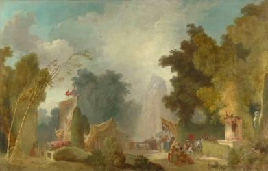 La Fête à Saint-Cloud (Fragonard Jean-Honoré) - Muzeo.com