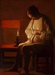 La Femme à la puce (Georges de La Tour) - Muzeo.com