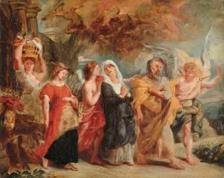 La Fuite de Loth (Eugène Delacroix) - Muzeo.com