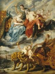 La Galerie Médicis : L'Entrevue du roi et de Marie de Médicis à Lyon, le 9 novembre 1600 (Pierre Paul Rubens) - Muzeo.com