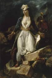 La Grèce sur les ruines de Missolonghi (Eugène Delacroix) - Muzeo.com